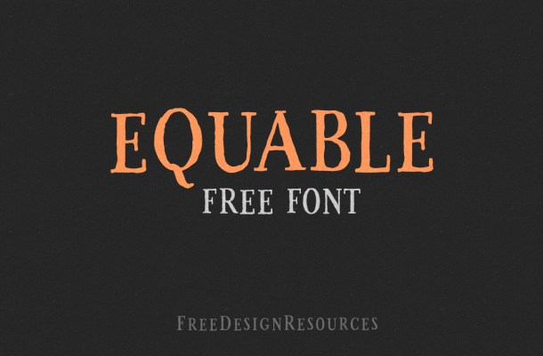Equable Free Retro Font