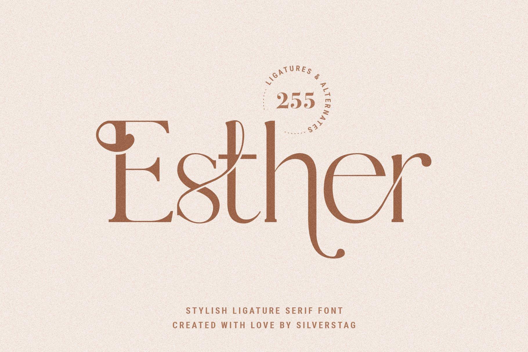 Esther Stylish Ligature Serif Font-1