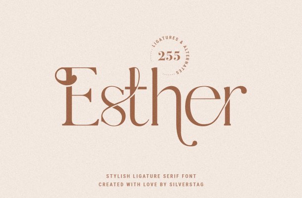 Esther Stylish Ligature Serif Font