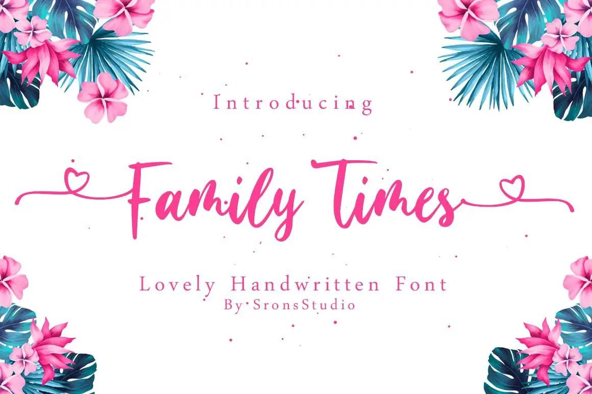 Family Times Lovely Handwritten Font-1