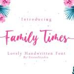 Family Times Lovely Handwritten Font