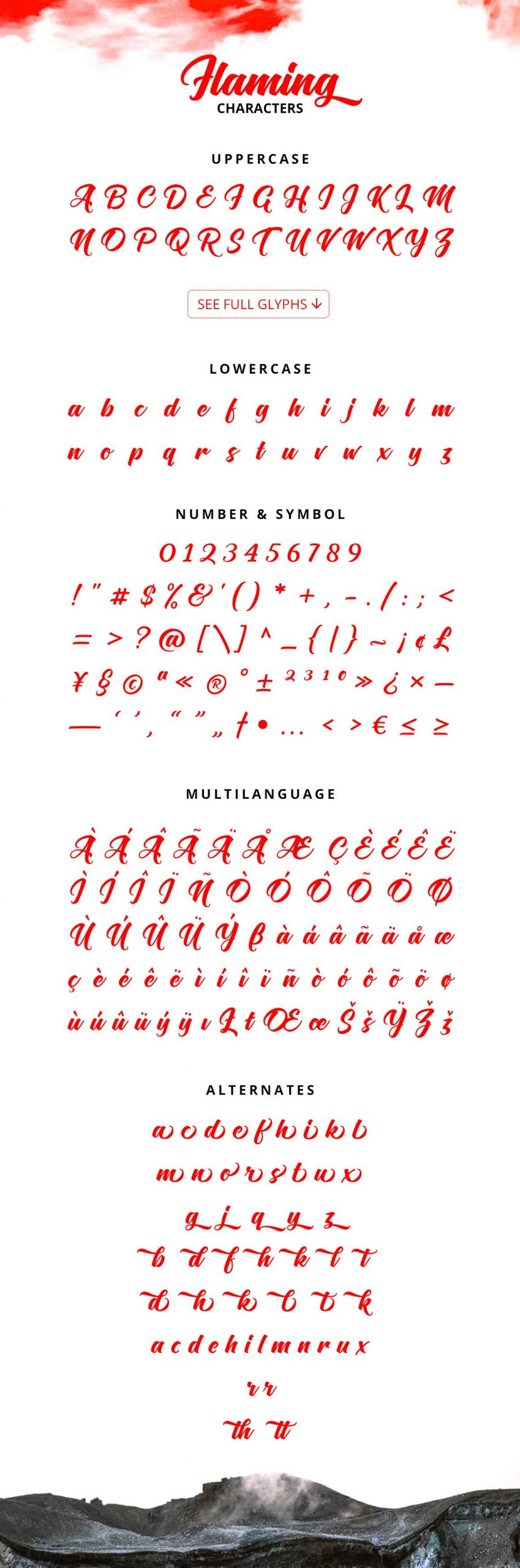 Flaming Script Brush Font-3
