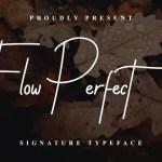 Flow Perfect Signature Handwritten Typeface