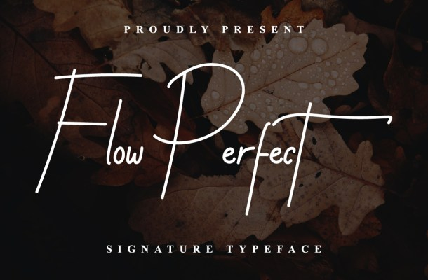 Flow Perfect Signature Handwritten Typeface