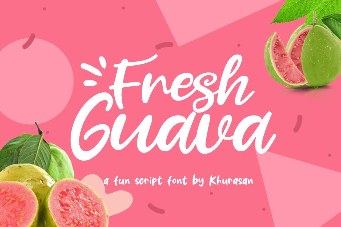 Fresh Guava Bold Script Font-1