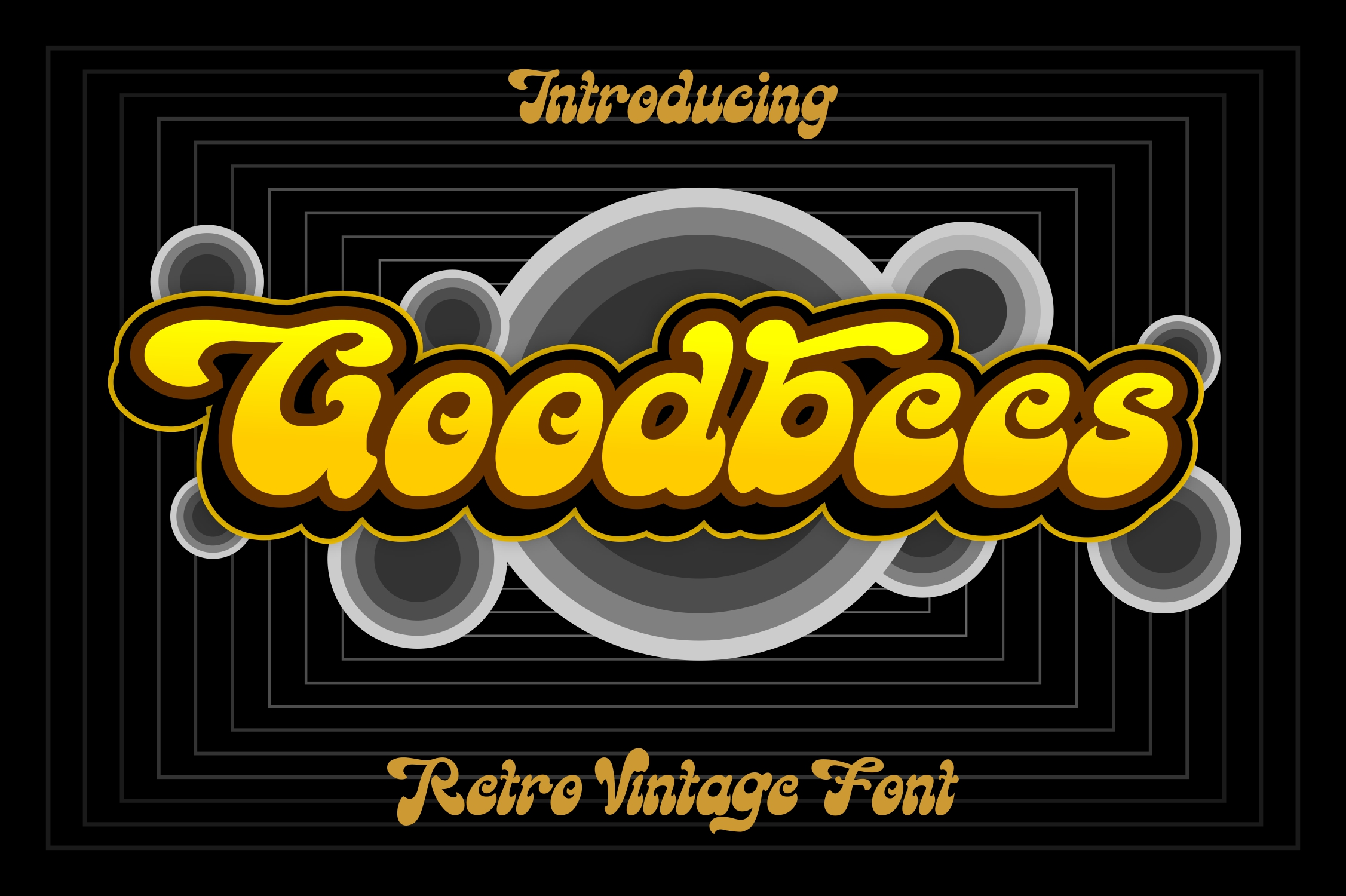 Goodbees Display Font-1