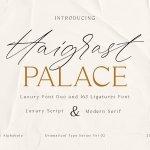 Haigrast Script Serif Font Duo