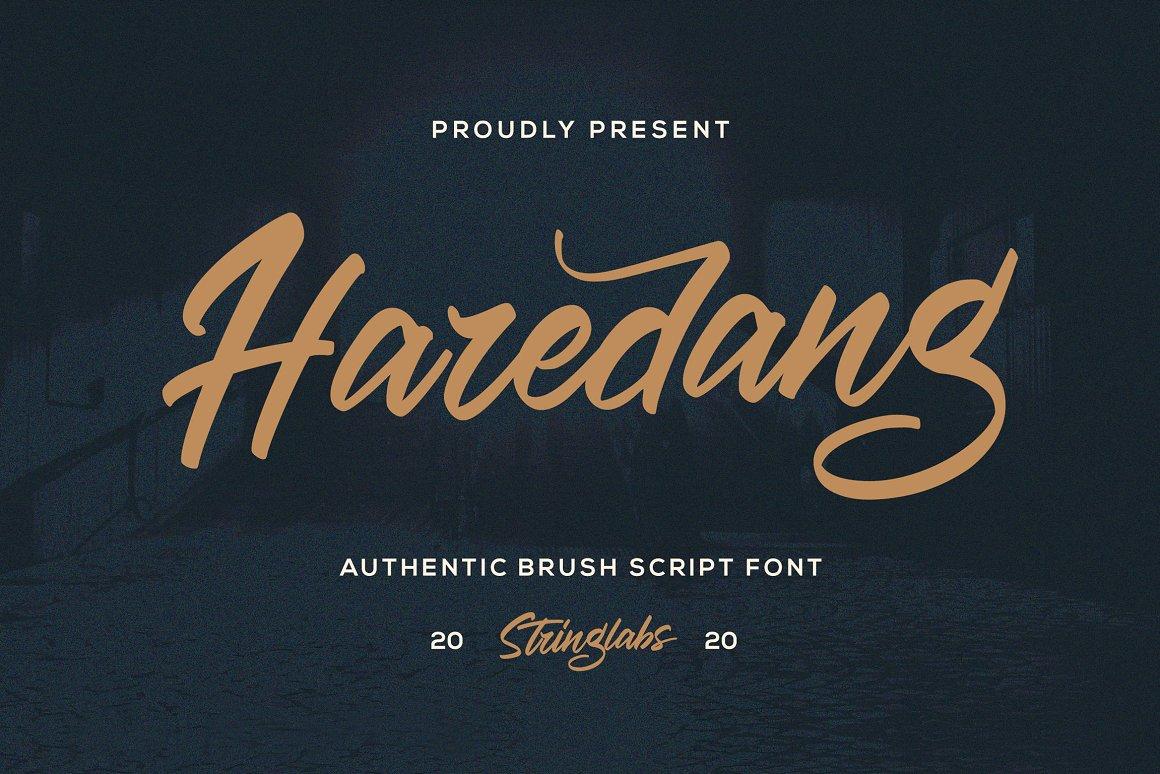 Haredang Bold Script Font-1
