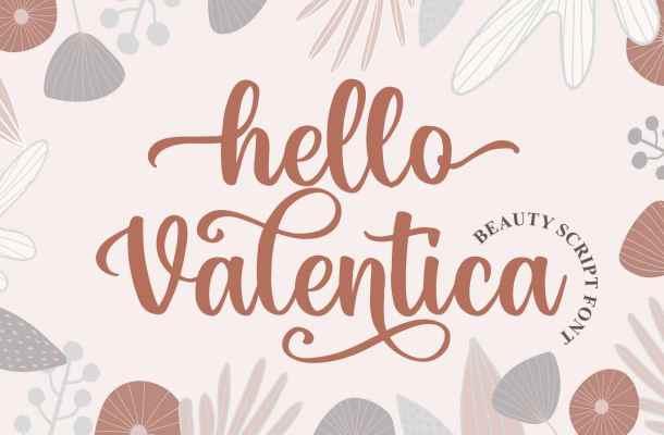 Hello Valentica a Beauty Calligraphy Script Font