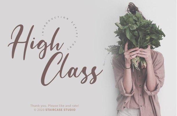 High Class Handwritten Font