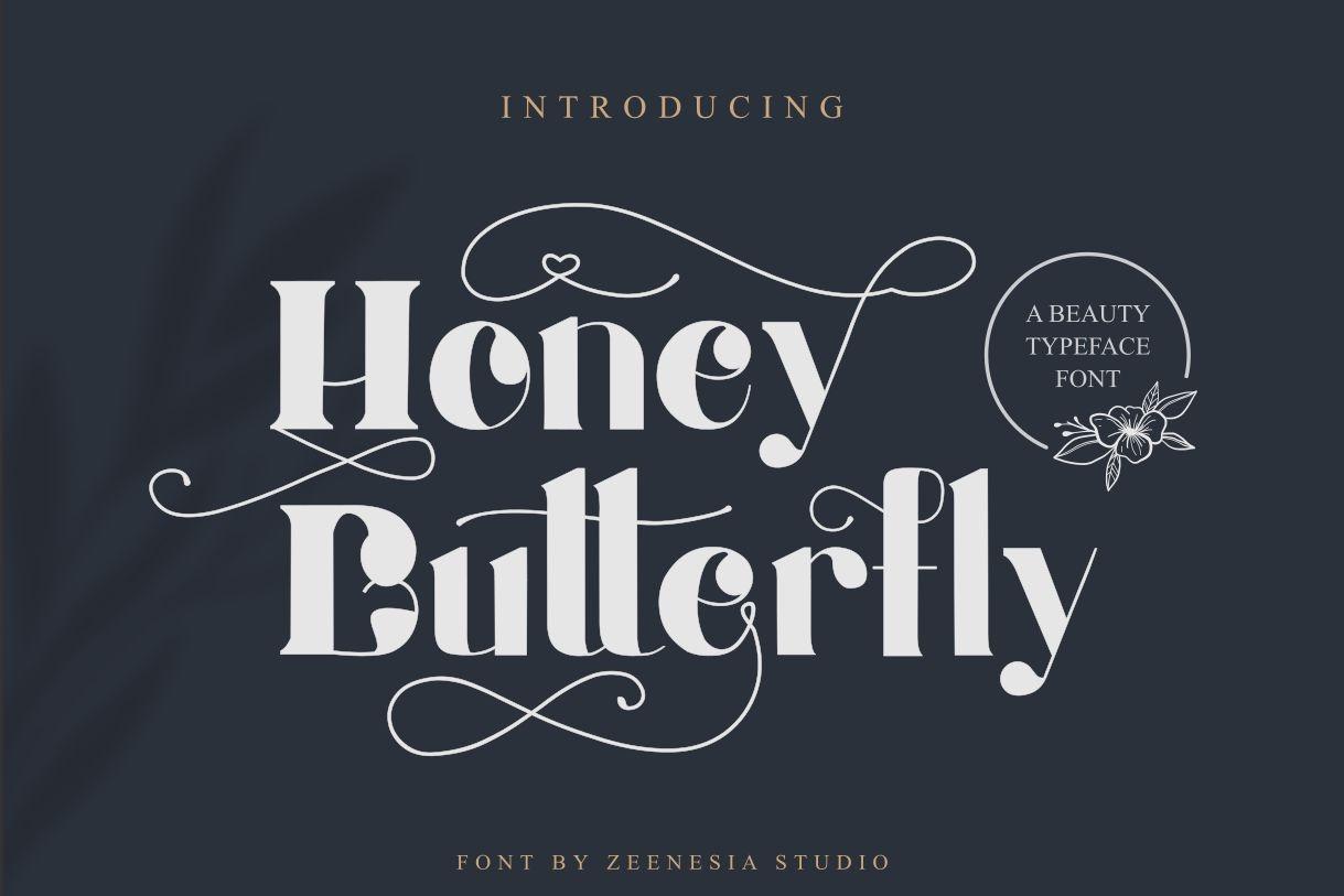Honey Batterfly Display Font-1