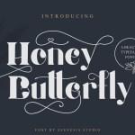Honey Batterfly Display Font