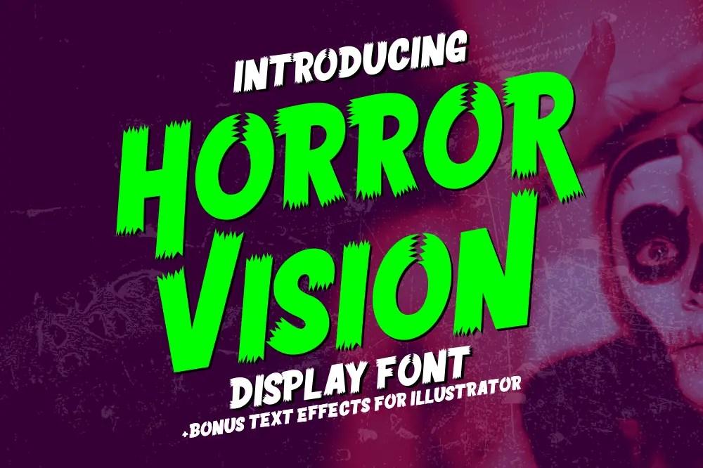 Horror Vision Display Font-1