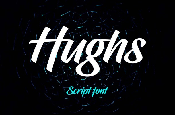 Hughs Brush Font