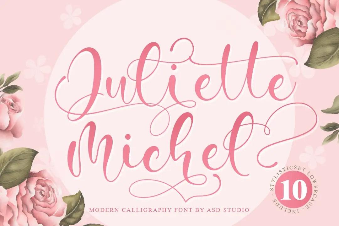 Juliette Michel Modern Calligraphy Font-1