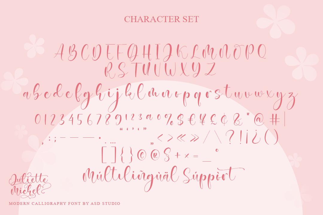 Juliette Michel Modern Calligraphy Font-3