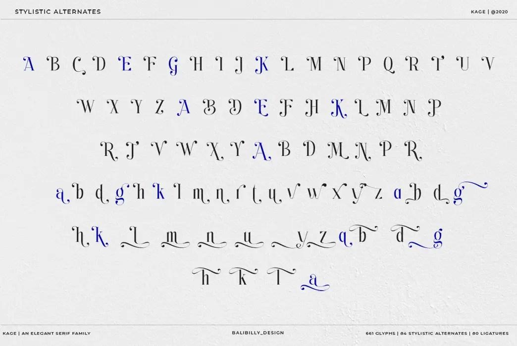 Kage An Elegant Serif Typeface-3