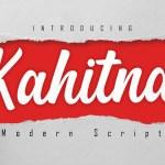 Kahitna Modern Script Font