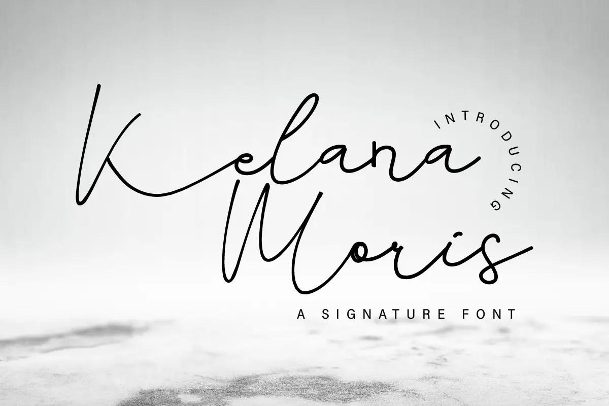 Kelana Moris Script Handwriting Font-1