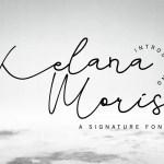 Kelana Moris Script Handwriting Font