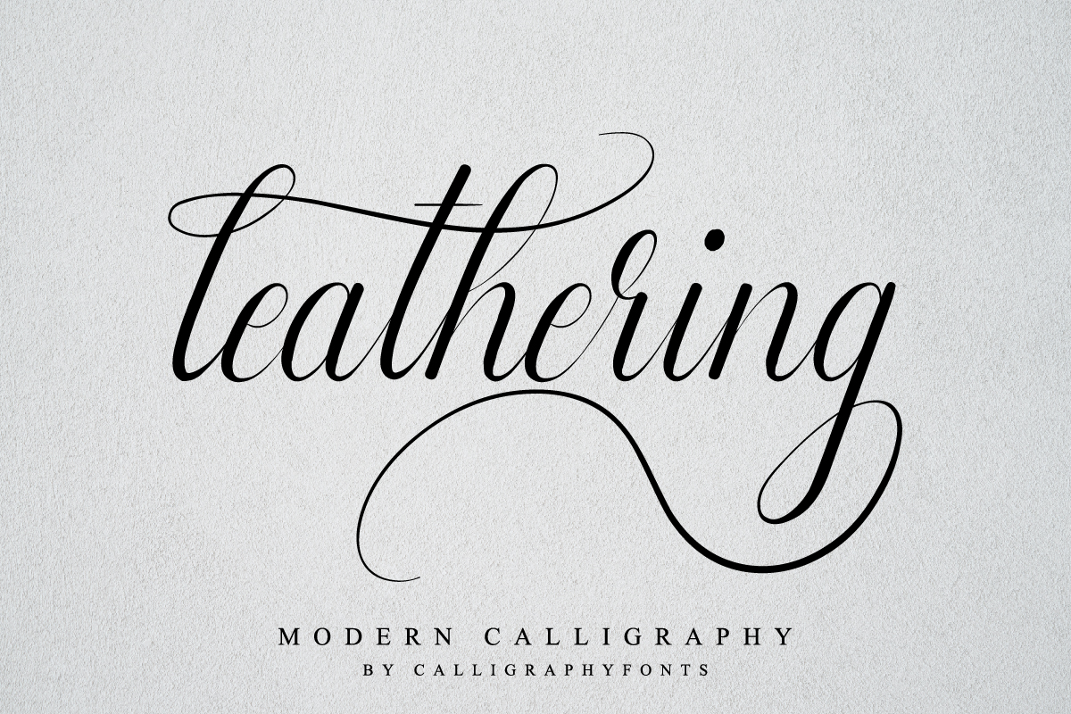 Leathering Calligraphy Script Font-1