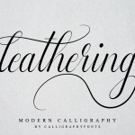 Leathering Calligraphy Script Font