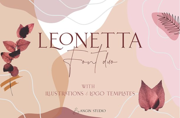 Leonetta Serif Script Font Duo