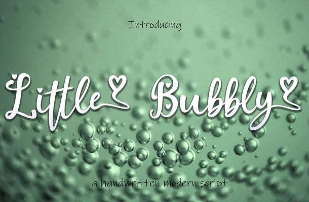 Little Bubbly Handwritten Script Font