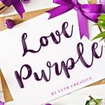 Love Purple Brush Script Font