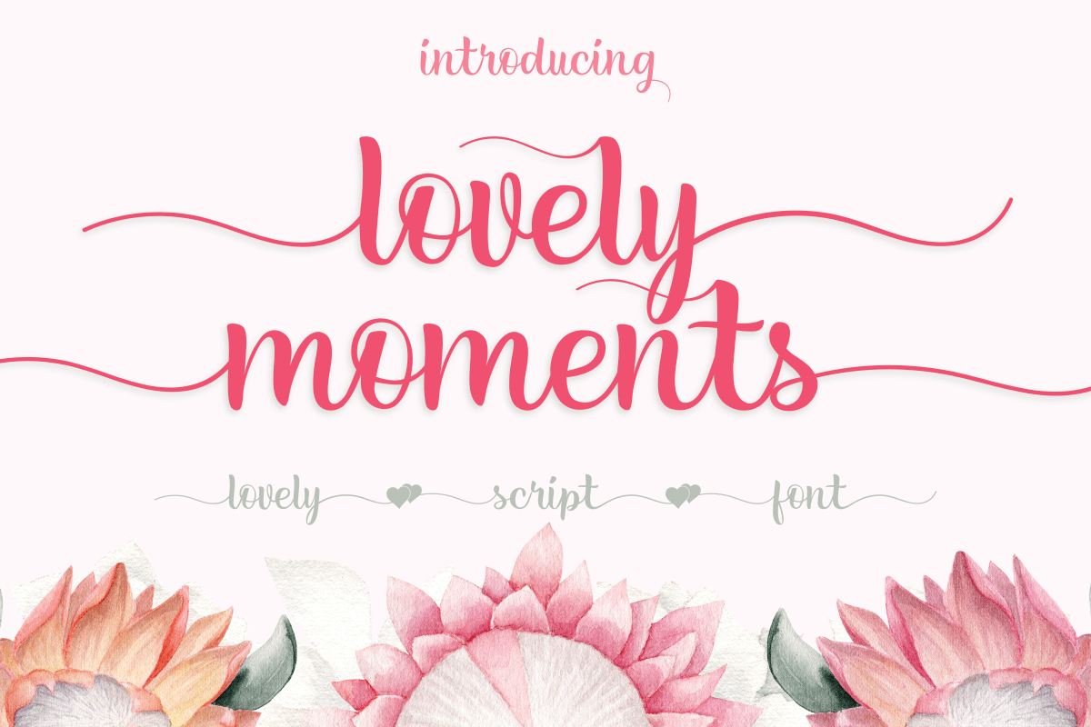 Lovely Moments Calligraphy Script Font-1