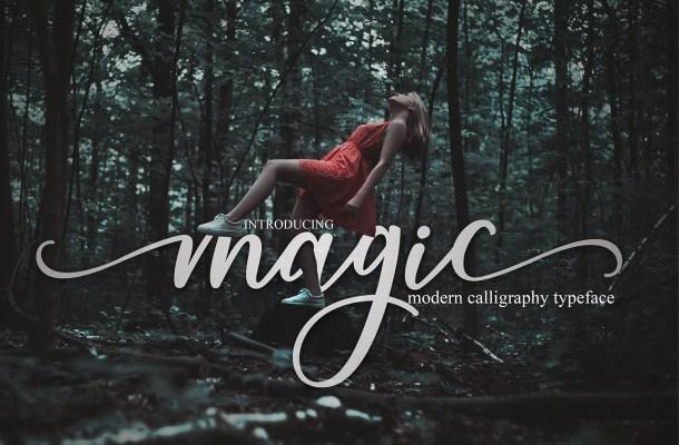 Magic Calligraphy Script Font
