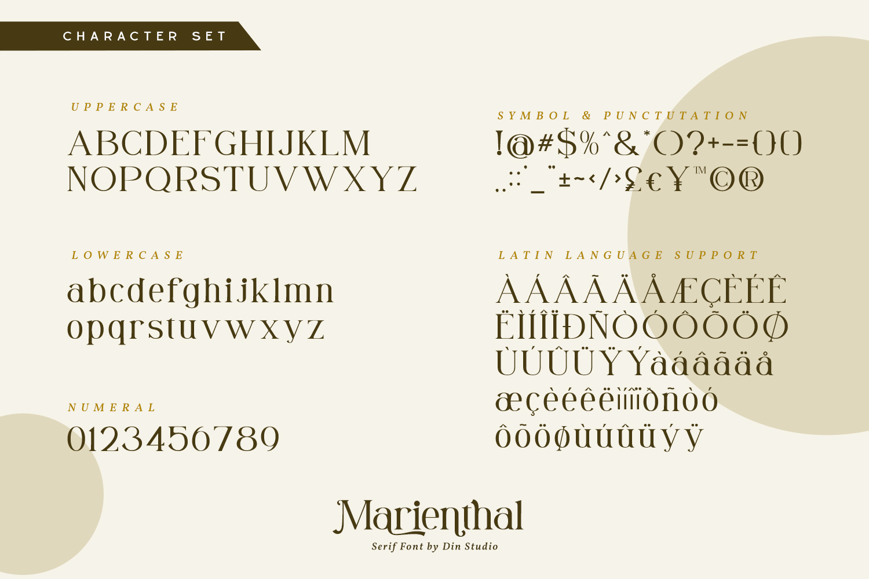 Marienthal Casual Serif Fon-3