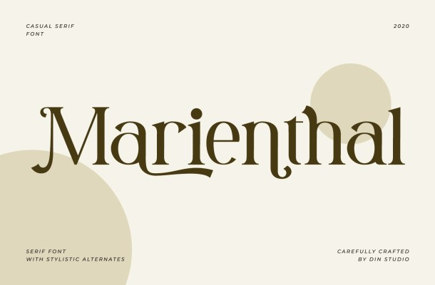 Marienthal Casual Serif Font