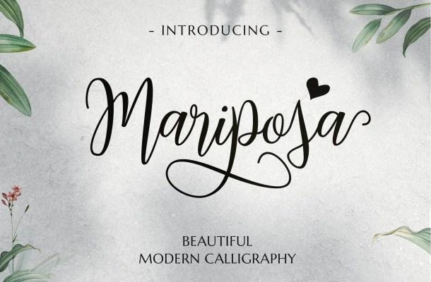 Mariposa Script Calligraphy Font