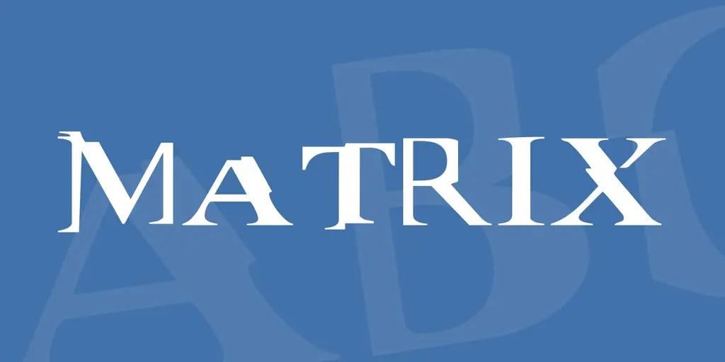 Matrix Distorted Fancy Font-2