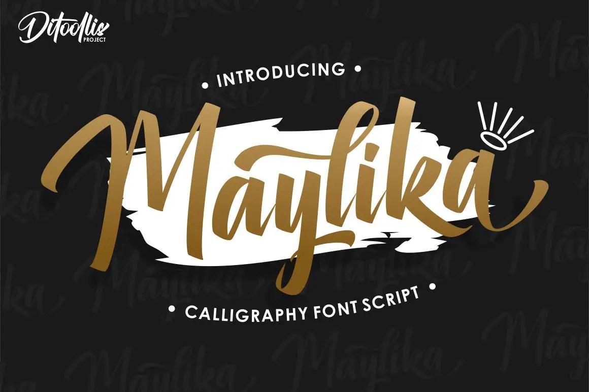 Maylika calligraphy script Font-1