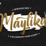 Maylika calligraphy script Font