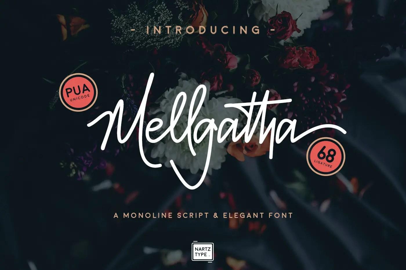 Mellgatha Monoline Script Font-1