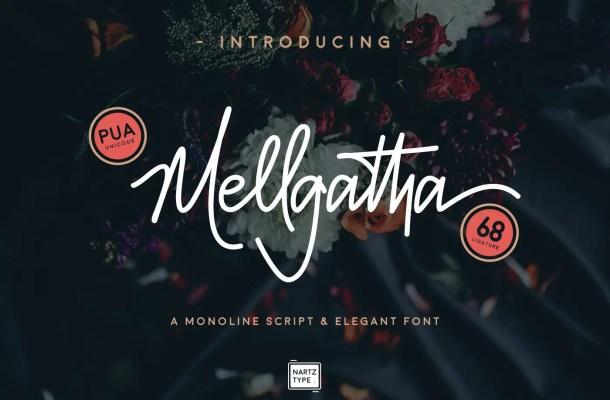 Mellgatha Monoline Script Font