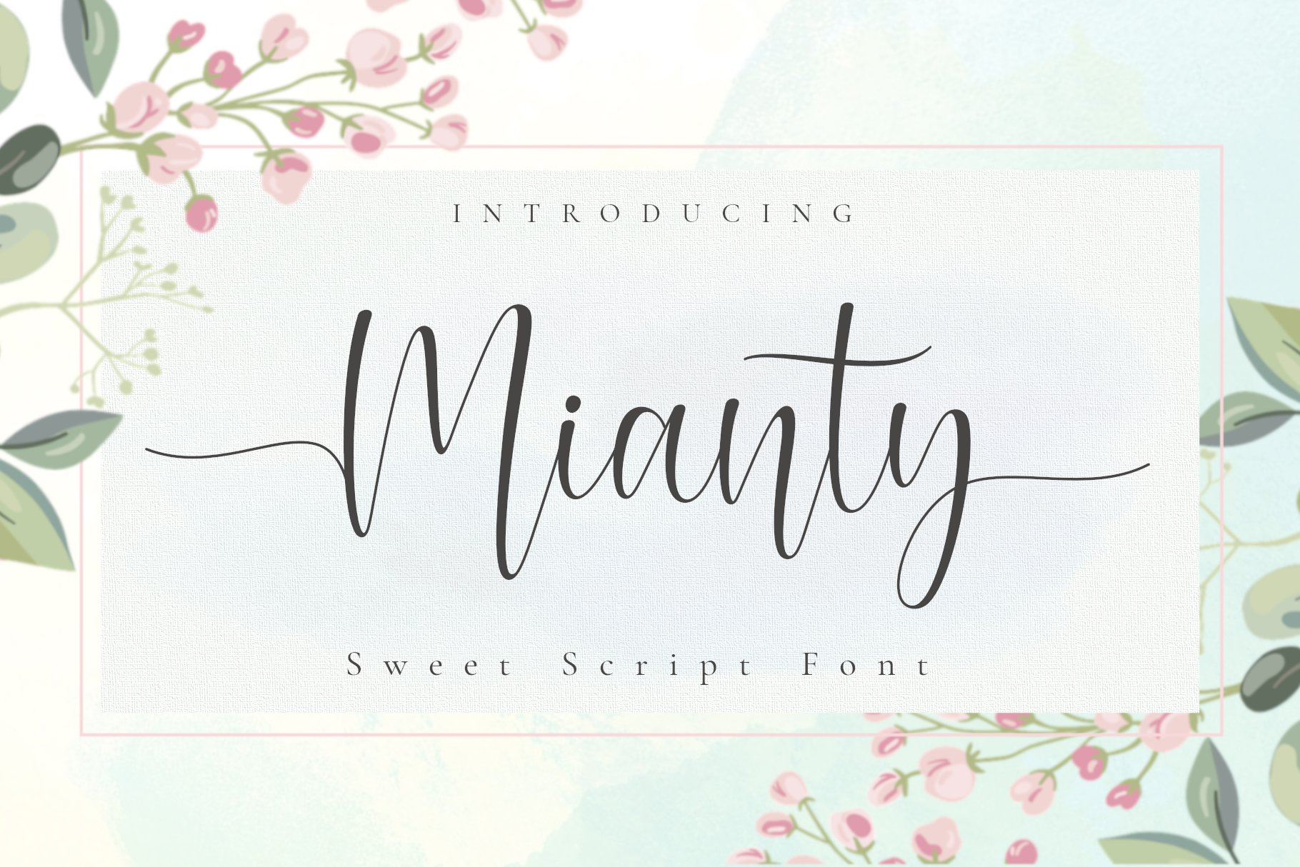 Mianty Sweet Calligraphy Script Font-1