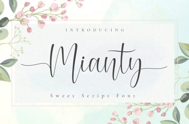 Mianty Sweet Calligraphy Script Font