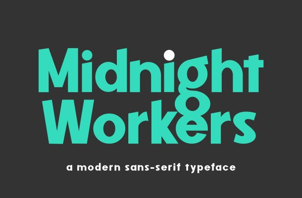Midnight Workers Sans Serif Font