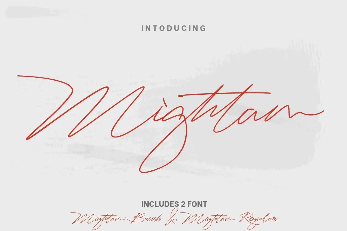 Mightam Handwritten Signature Font-1