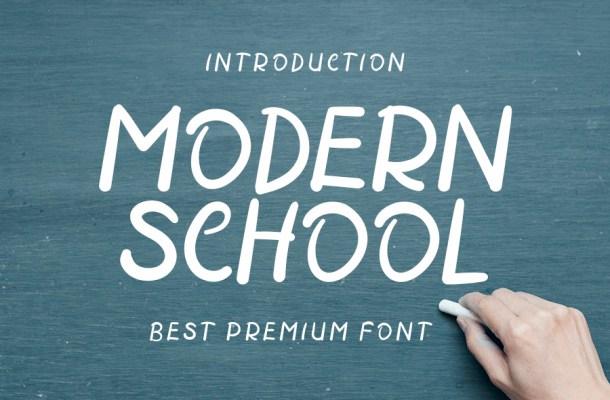 Modern School Script Font
