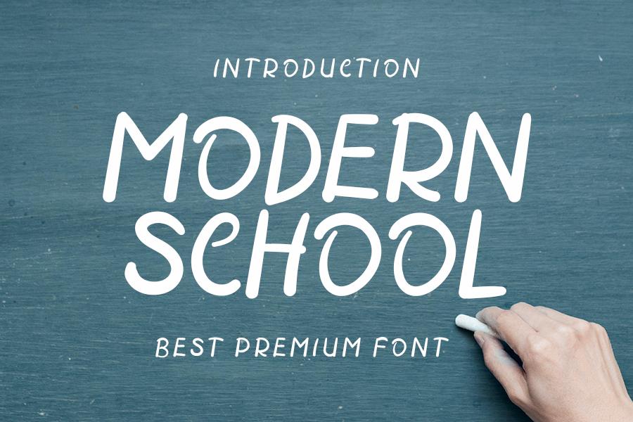 Modern School Script Font-1