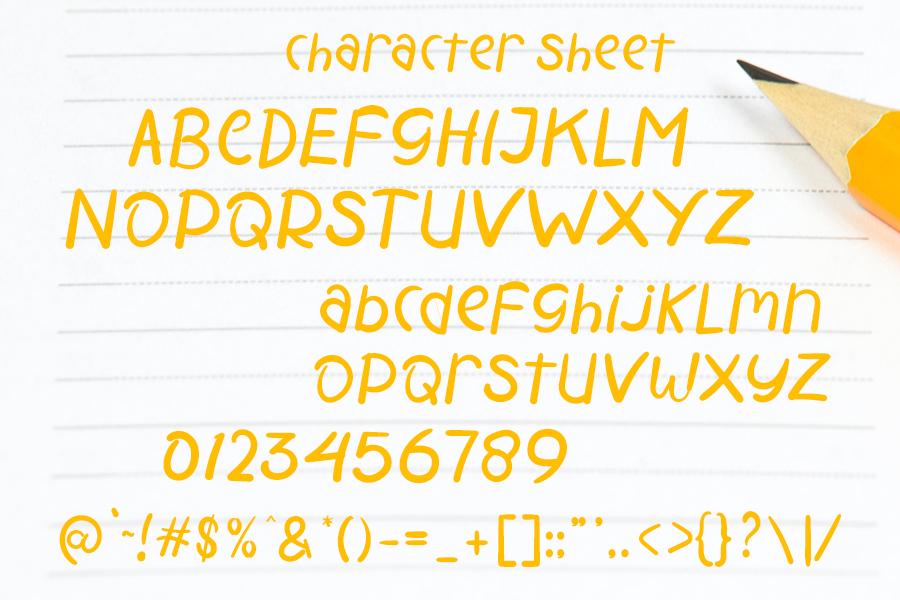 Modern School Script Font-3