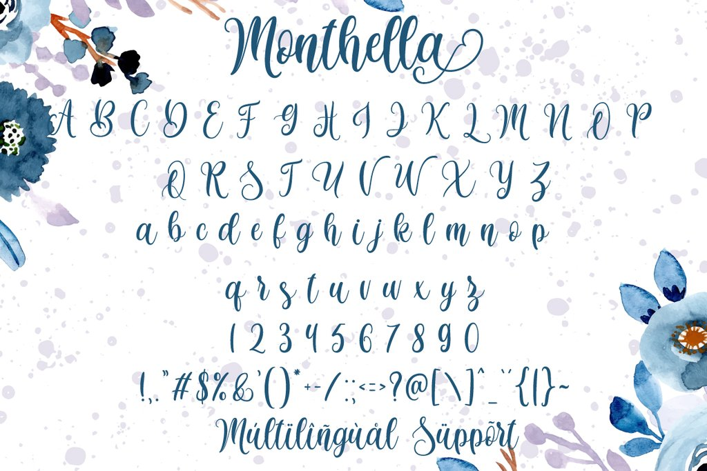 Monthella Calligraphy Script Font-3