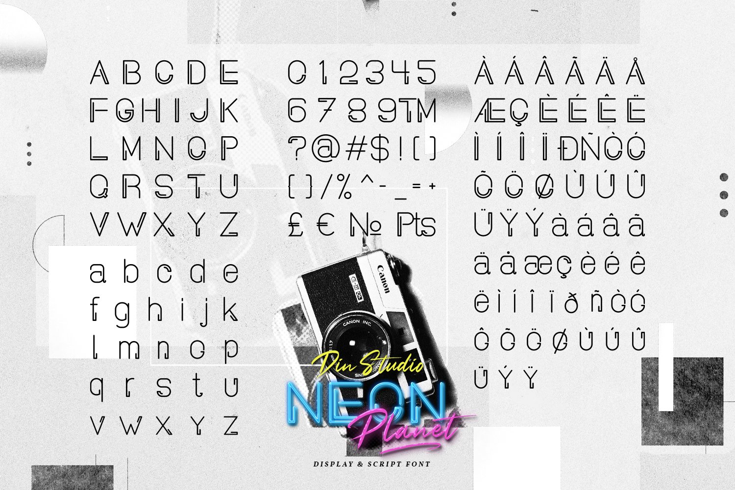 Neon Planet Display Personal Us Font-3