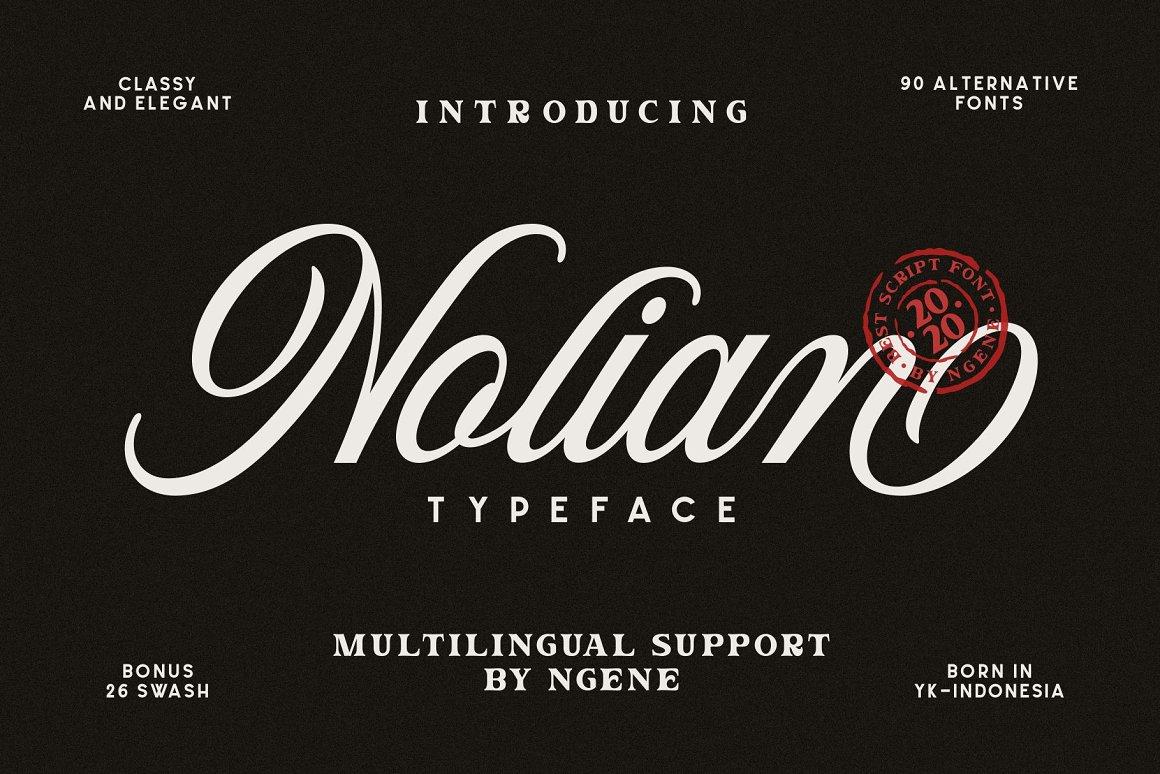 Nolian Script Typeface-1