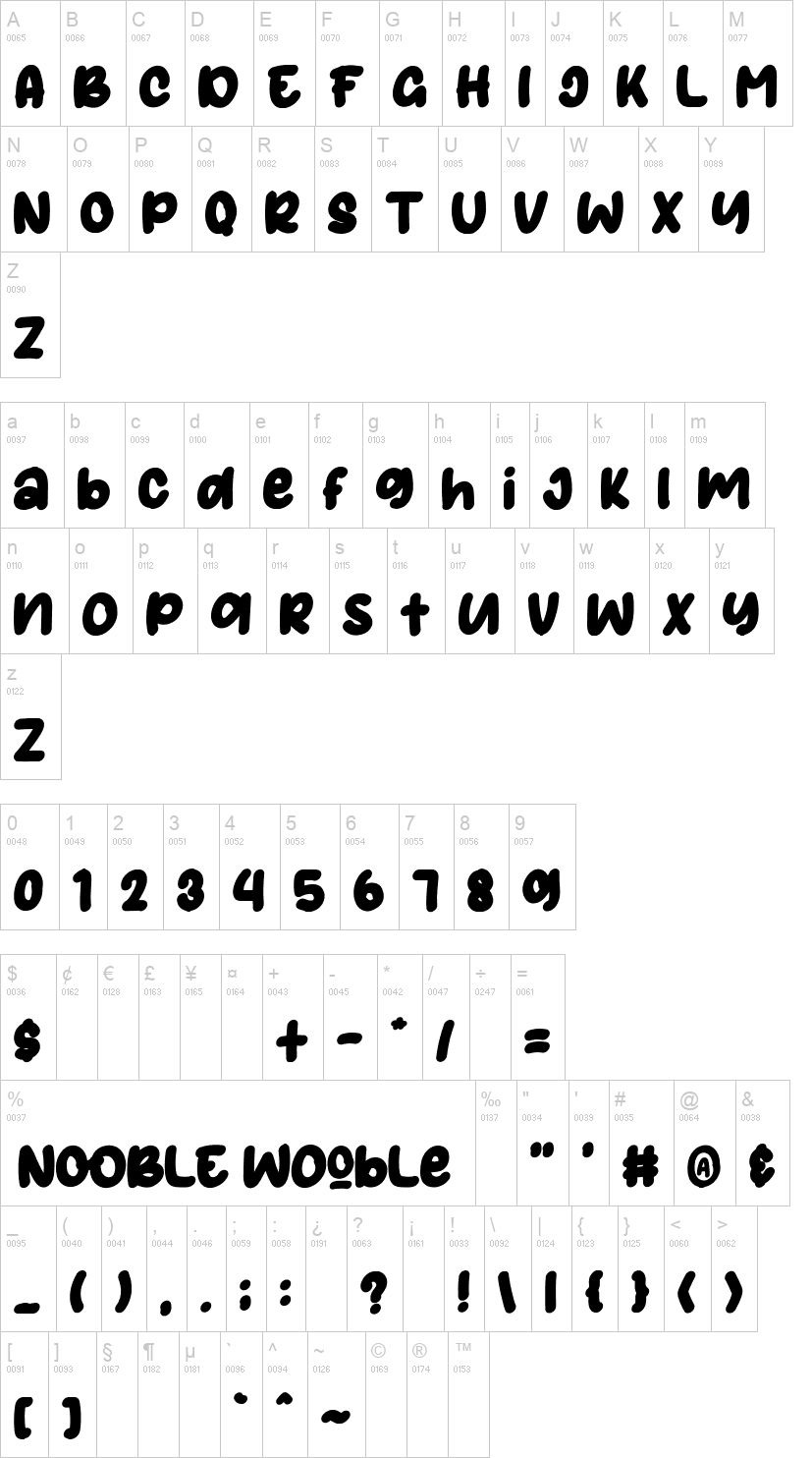 Nooble Wooble Display Typeface-2